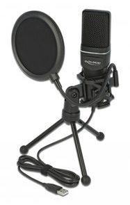 DELOCK Mικρόφωνο studio με pop φίλτρο & αντιανέμιο 66331