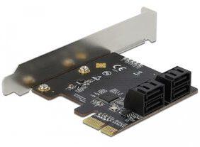 DELOCK κάρτα επέκτασης PCI σε 4x SATA 90010