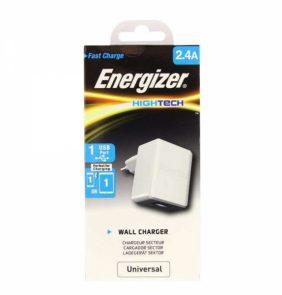 ENERGIZER TRAVEL CHARGER USB 2.4Amp white
