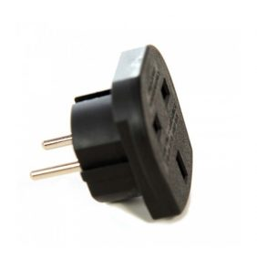 POWER ADAPTER ENGLAND TO EUROPE black